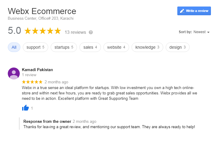 Webx Ecommerce Reviews